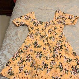 Flynn Skye yellow floral dress in size medium
